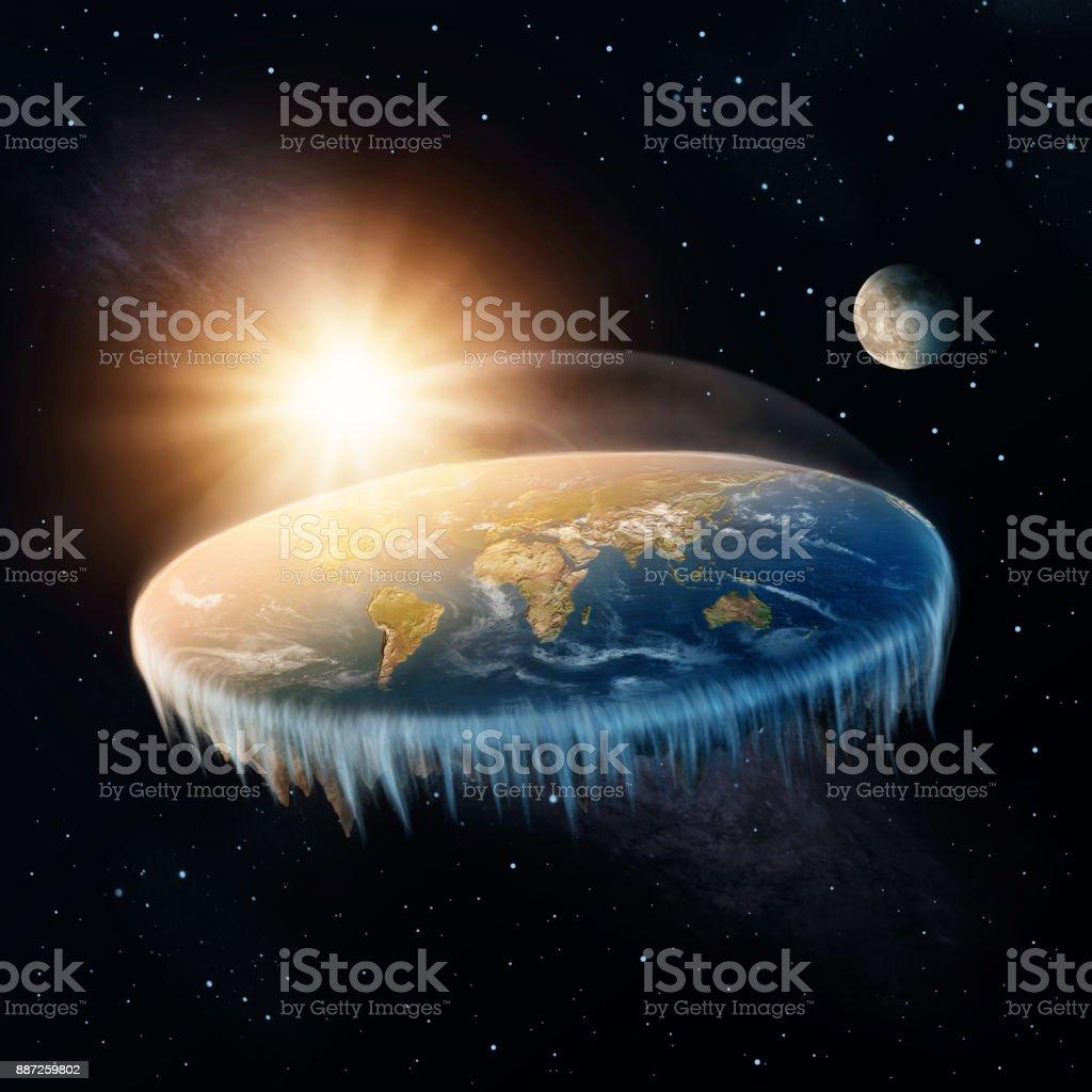 Flat Earth stock photo