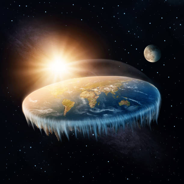 Flat Earth stock photo