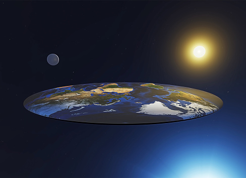Flat Earth View Myths And Legends Discworld A Parallel Universe Stock Photo - Download Image Now