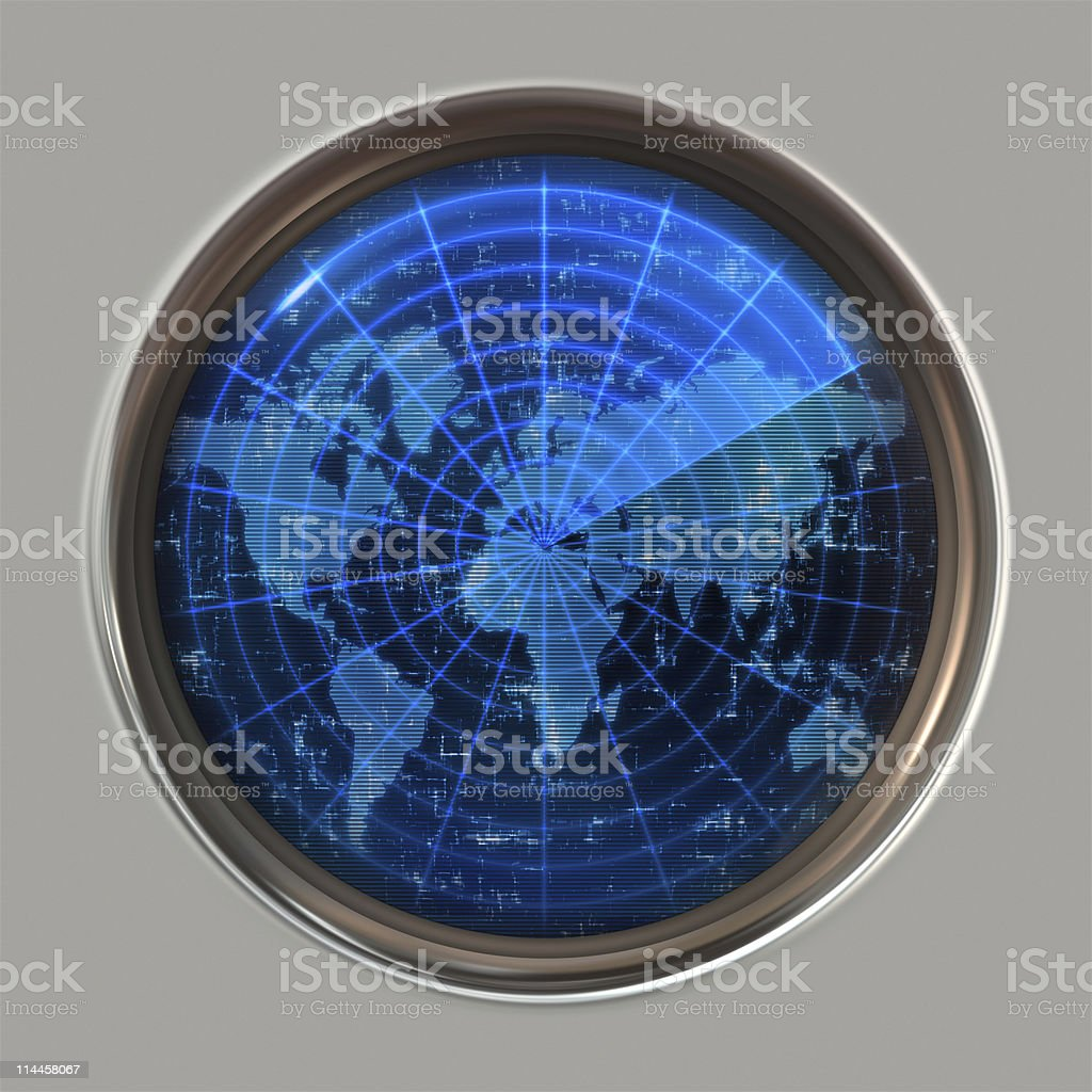 A flat earth world map concept radar stock photo more pictures of a flat earth world map concept radar royalty free stock photo gumiabroncs Gallery