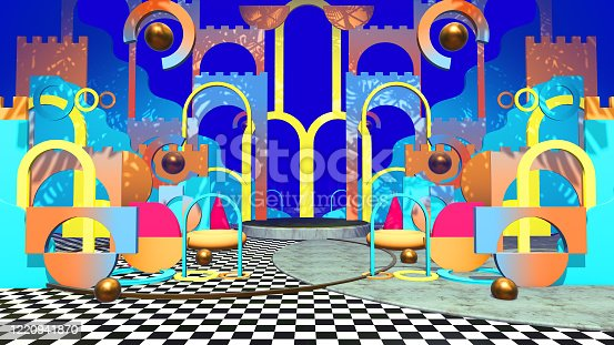 istock Flat Geometry Colorful 1220941870