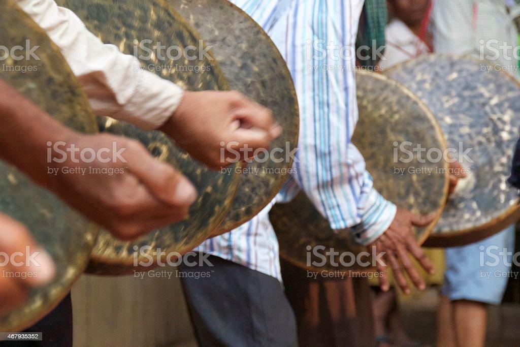 Flat Gongs stock photo