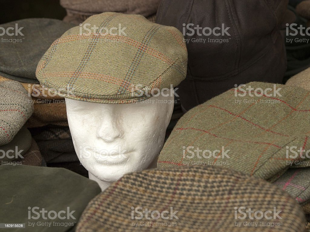Flat Hats stock photo