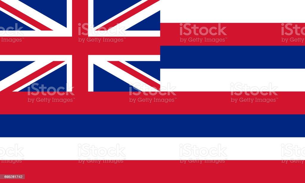 plano de bandeira do estado de Havaí - EUA - foto de acervo