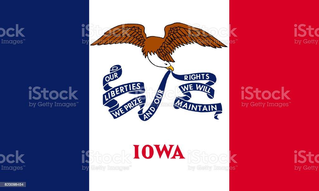 flat iowa state flag - usa stock photo