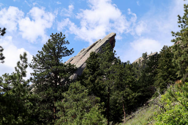 Flat Irons in Colorado stock photo