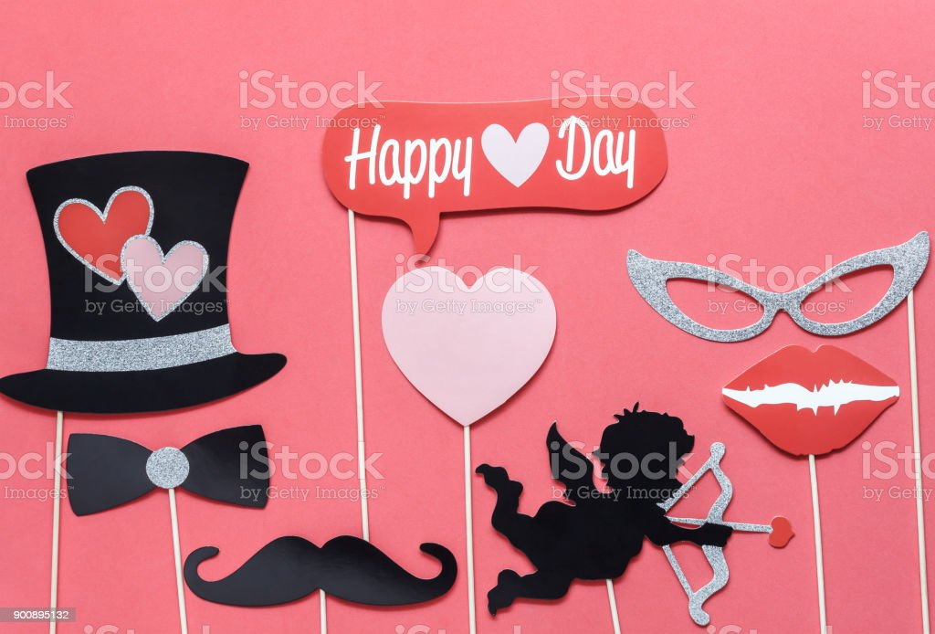Flat Lay Aerial Image Of Sign Valentines S Day Background ConceptDIY Photo