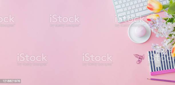 Flat lay blogger or freelancer workspace with a keyboard yellow and picture id1218821976?b=1&k=6&m=1218821976&s=612x612&h=atsxscvivlfmog 8430tp94mjvg2pcexlkj6fn8  4y=