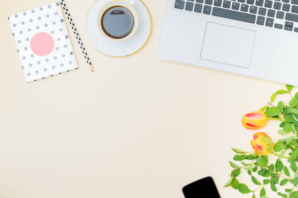 Flat lay blogger or freelancer workspace with a laptop yellow tulips picture id1223057058?b=1&k=6&m=1223057058&s=612x612&w=0&h=bkddxlm1xeq8d6ty1yvq6 kocaasgfmkt8tzz8cxsyo=