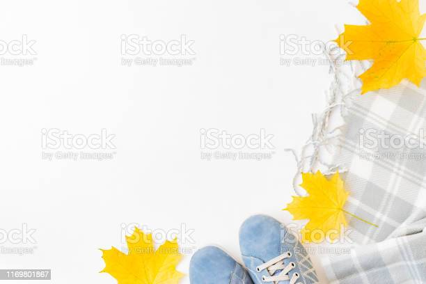 Flat lay composition with a sneakers scarf and colorful autumn leaves picture id1169801867?b=1&k=6&m=1169801867&s=612x612&h=mycv0bwhwcl5yxkvzpvkaosxnmovdllgh0qjr s ans=