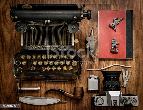626488516 istock photo Flat lay Hipster vintage objects 508697822