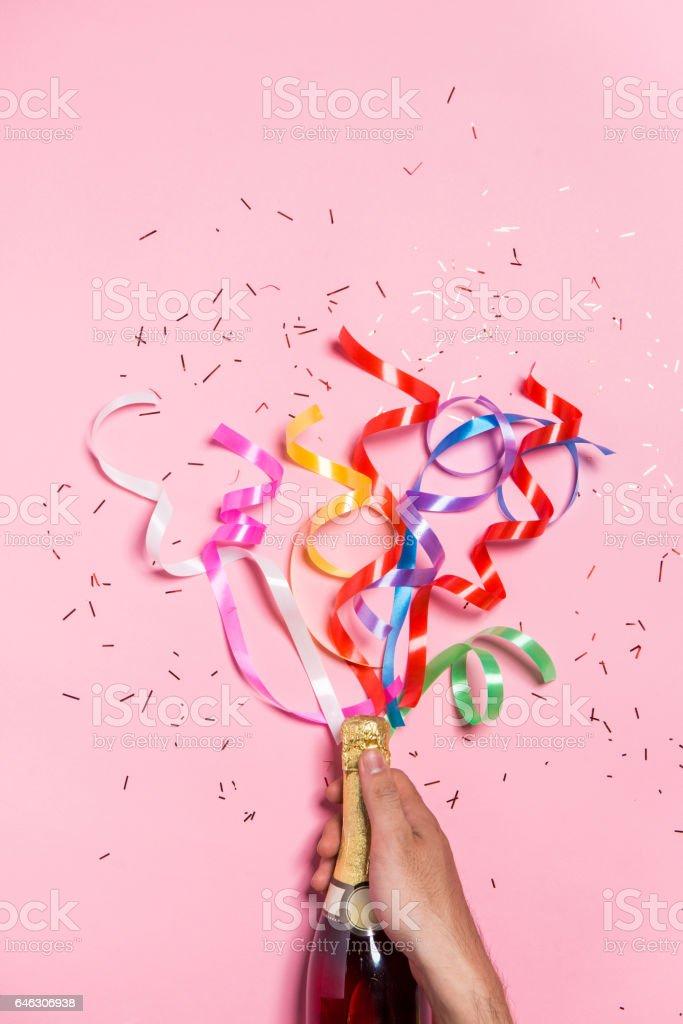Flat lay of Celebration. stock photo