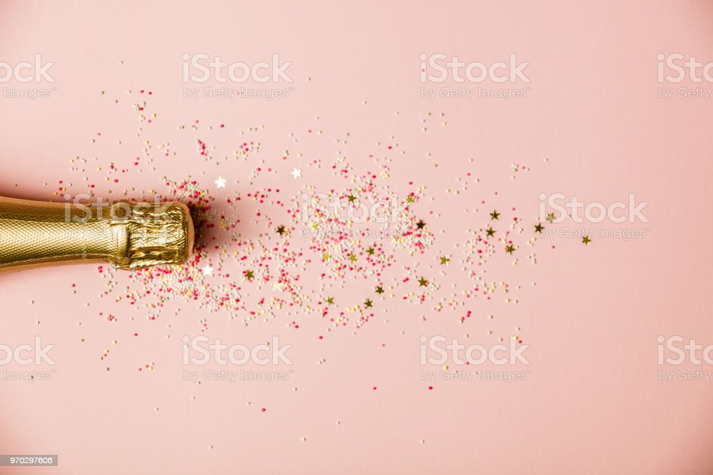 Flat lay of Celebration stock photo