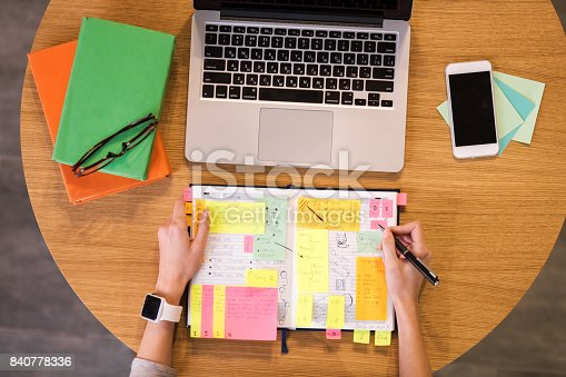 istock Flat lay photo of table 840778336