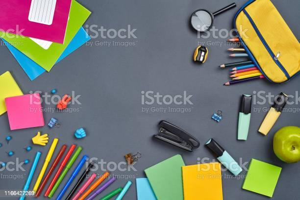 Flat lay photo of workspace desk with school accessories or office picture id1166427269?b=1&k=6&m=1166427269&s=612x612&h=8p3v7qf69sydngvebnogb5ahpk1rdbawxj8qocawwau=