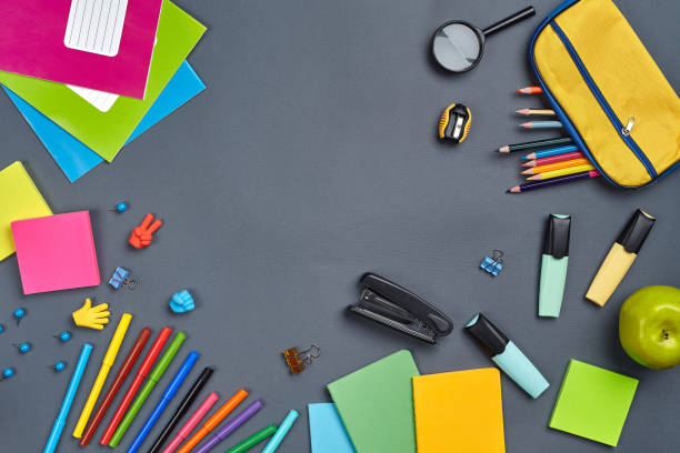 Flat lay photo of workspace desk with school accessories or office picture id1166427269?b=1&k=6&m=1166427269&s=612x612&w=0&h=rcxnakjtobranllat9d 1n9amtav1hfjbb wgvbcrvq=
