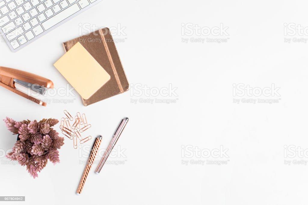 Tisch Schreibtisch flach legen, Top Aussicht – Foto