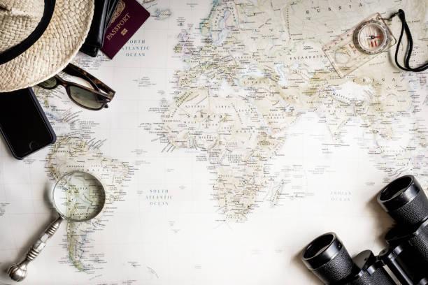 Flat lay top view travel map and accessories picture id936424208?b=1&k=6&m=936424208&s=612x612&w=0&h= gulfxowm u7wdykvhpeqxdqjzhjogb ylp8dgminbo=