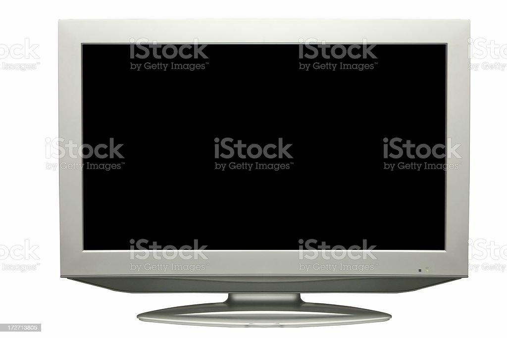Flat LCD tv royalty-free stock photo