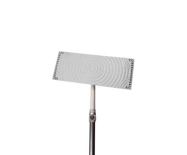 Flat mop without cleaning paper isolated, with clipping path stock photo