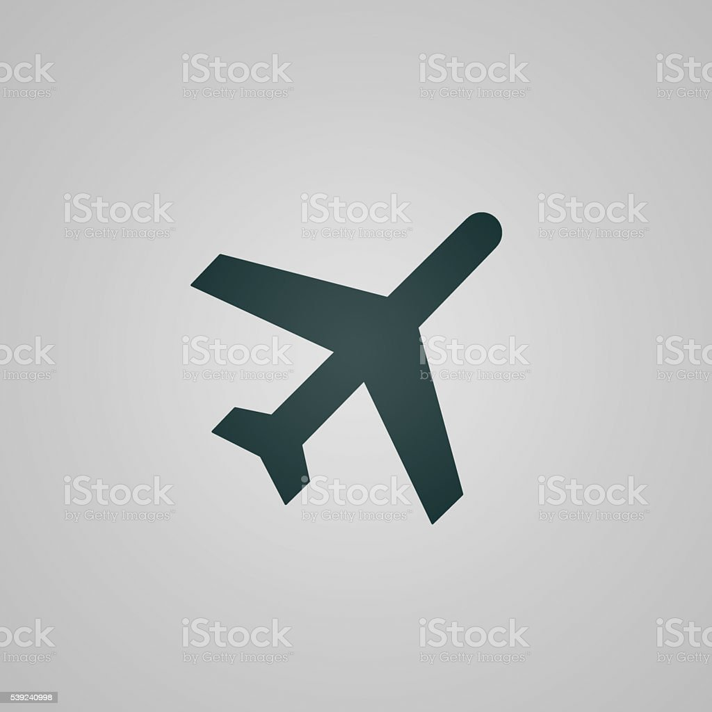 Flat plane / aircraft web icon / sign royalty-free stock photo