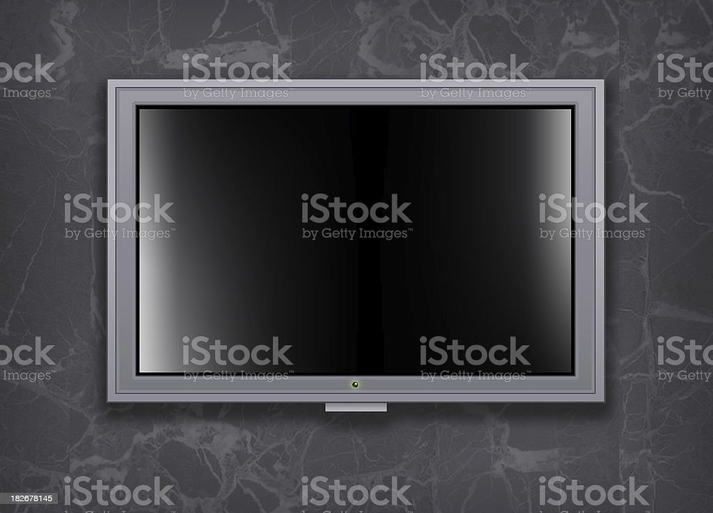 Flat Plasma TV screen royalty-free stock photo