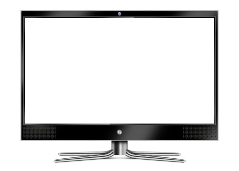 Flat Screen Computer Monitor Stock Photo - Download Image Now