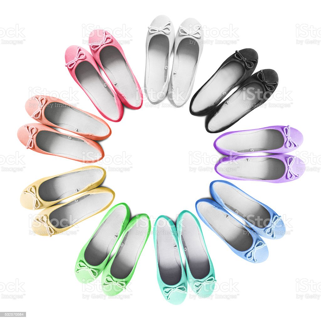 Flat shoes stock photo