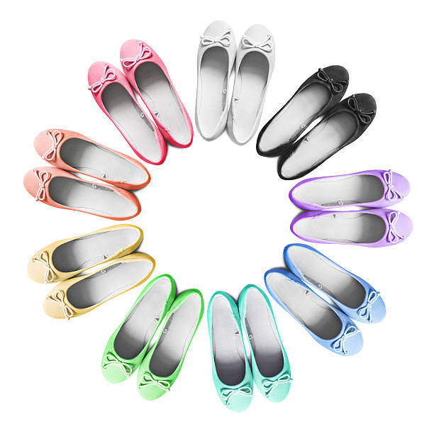 flat shoes - flat shoe stock photos and pictures