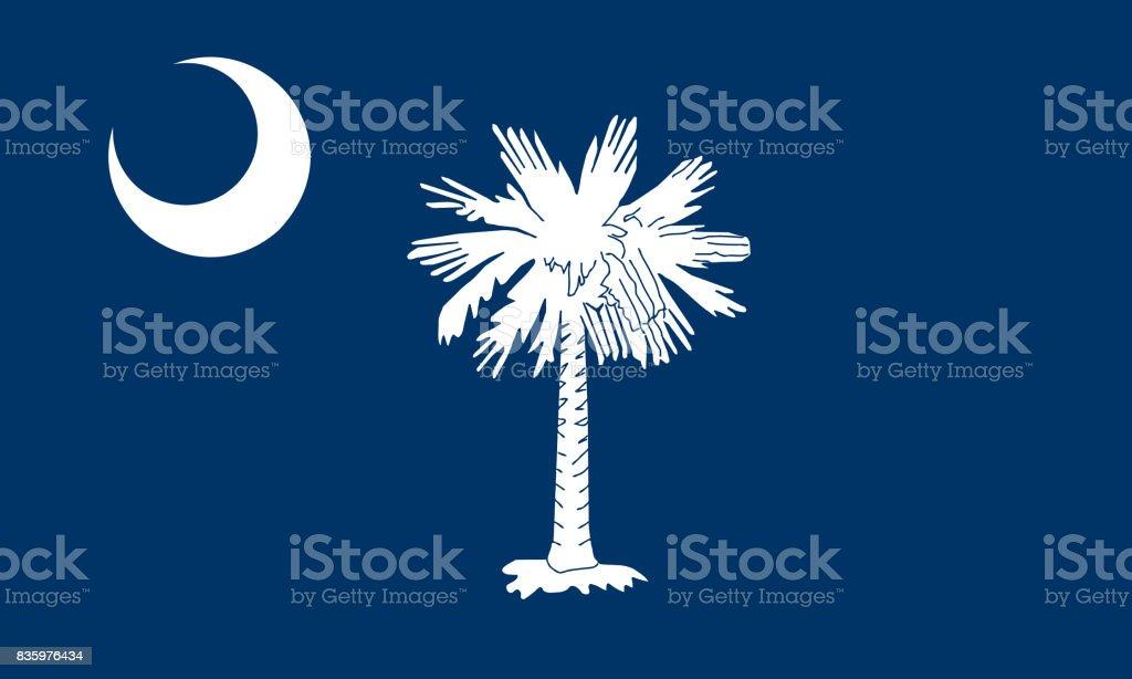 flat south carolina state flag - usa stock photo