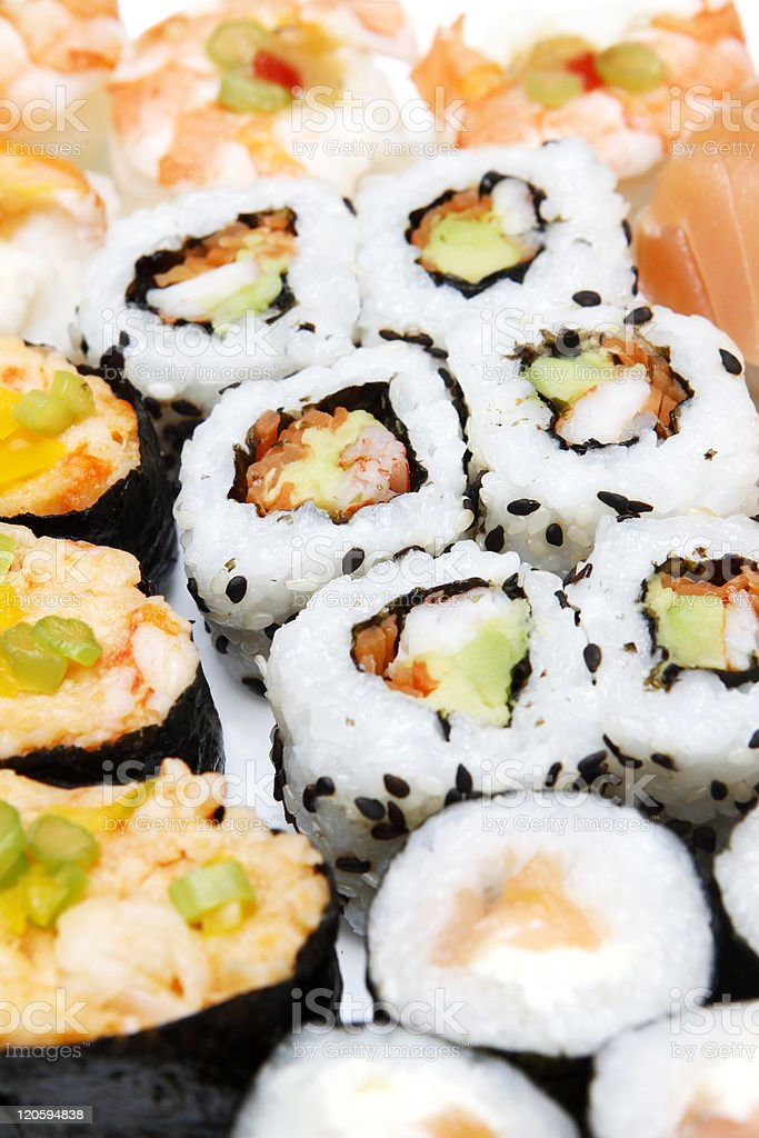 Sushis plate royalty-free stock photo