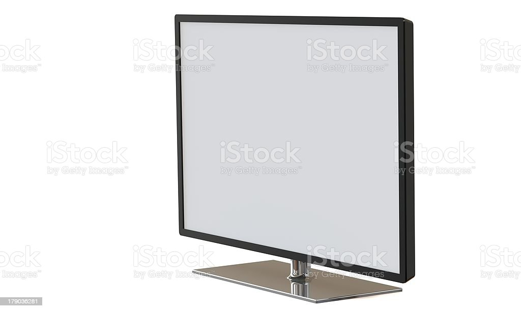 flat television lcd led monitor screen isolated on white royalty-free stock photo