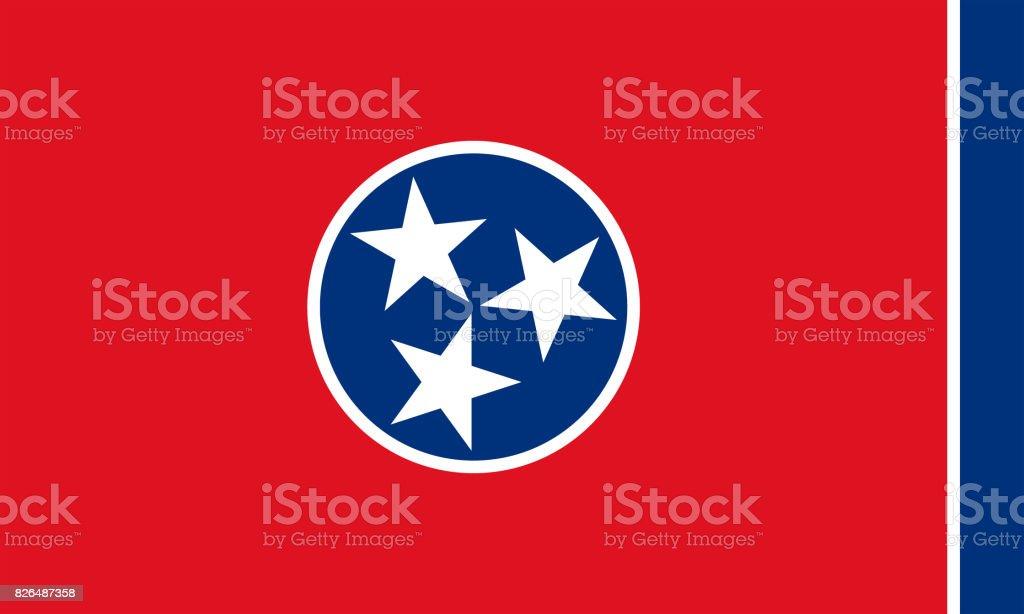 plano de bandeira do estado de tennessee - EUA - foto de acervo