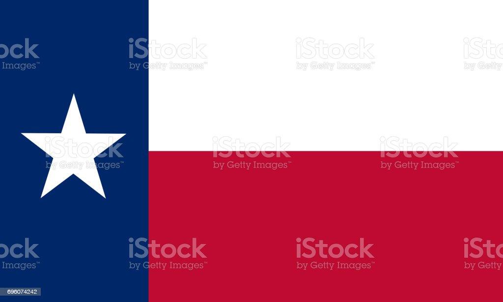 plana bandera del estado de texas - Estados Unidos - foto de stock