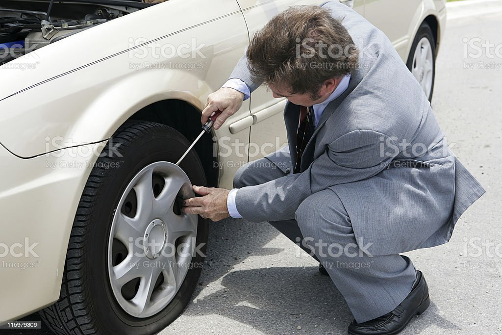 Flat Tire - Time For Change stock photo