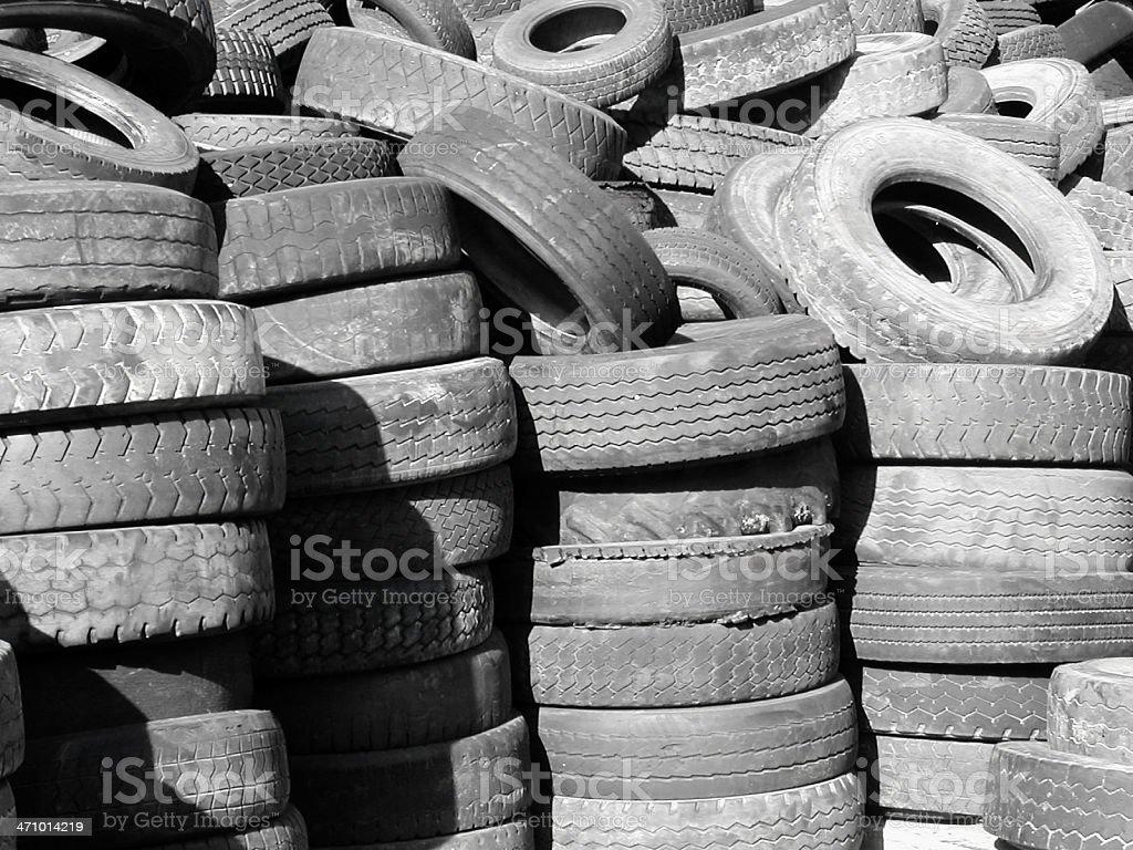 Flat Tires royalty-free stock photo