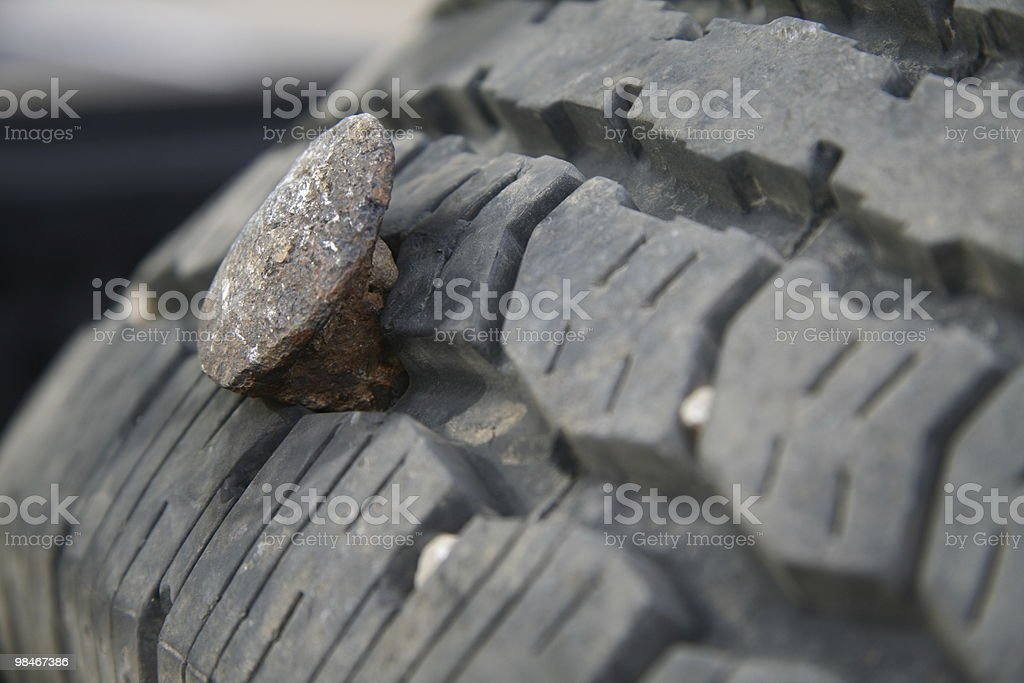 Flat tires ruin days royalty-free stock photo