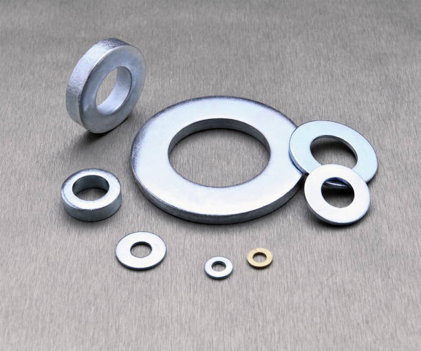 flat washers different size of flat washer washer fastener stock pictures, royalty-free photos & images