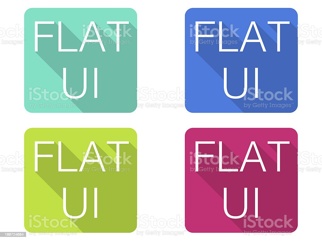 Flat web design, Modern interface trend, UI icons royalty-free stock photo