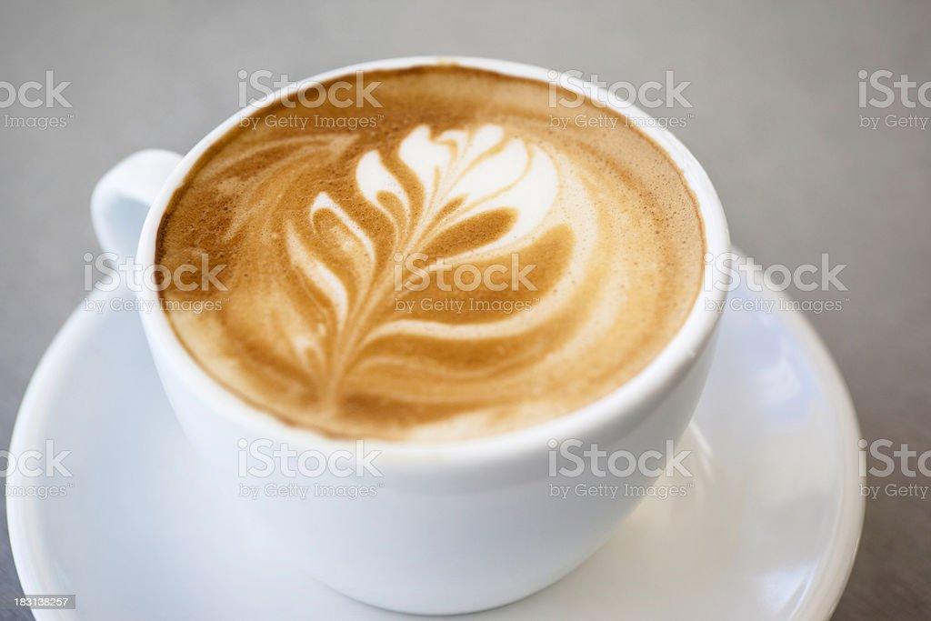 Flat white coffee royalty-free stock photo