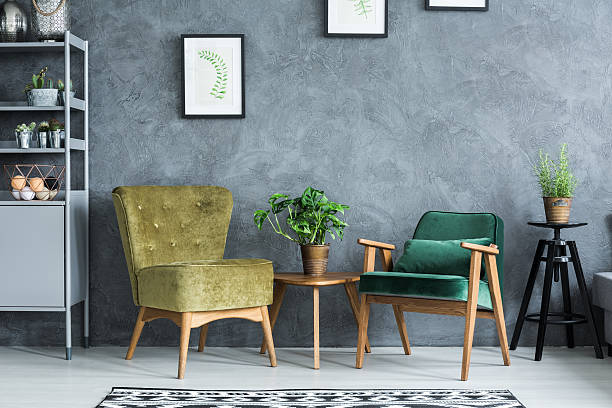 Flat with modern furniture stock photo