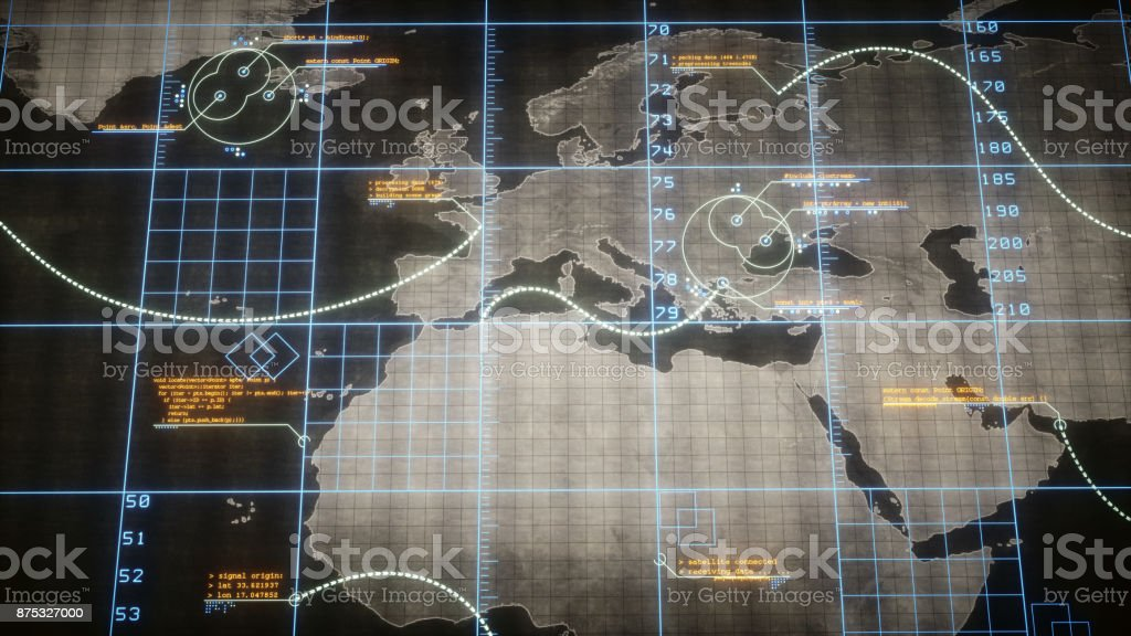 Flat World Map With Infographics stock photo