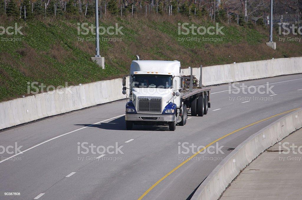 Flatbed Semi Truck royalty-free stock photo