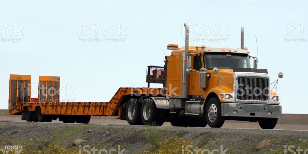 Flatbed Truck royalty-free stock photo