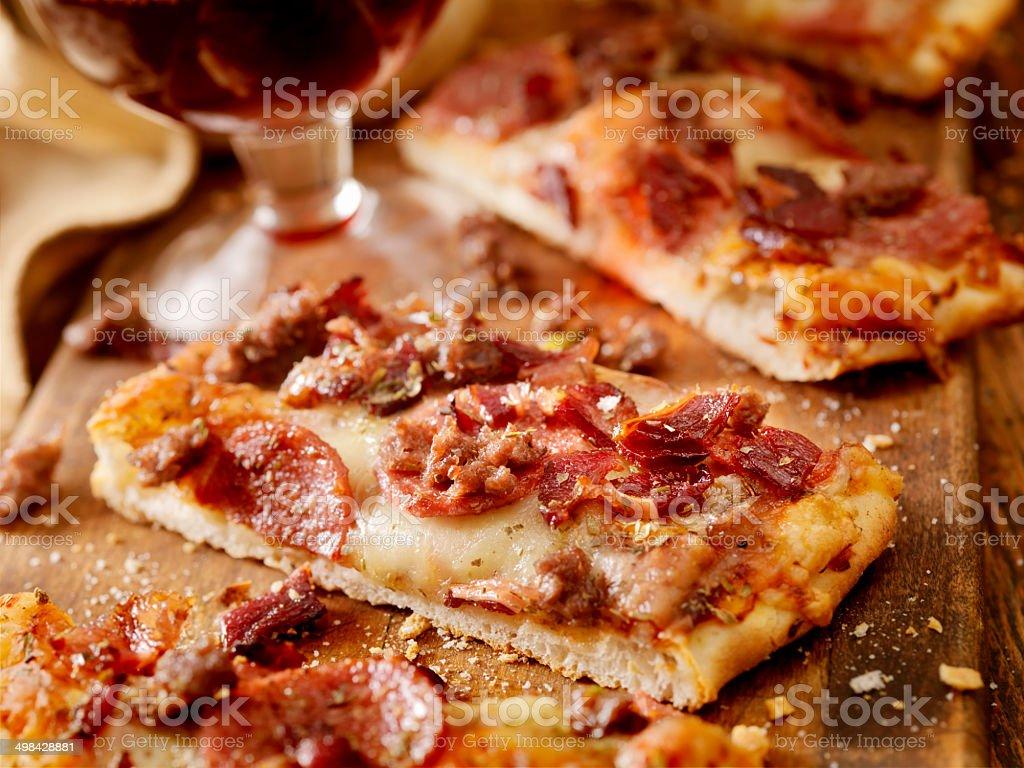Flatbread Pizza stock photo
