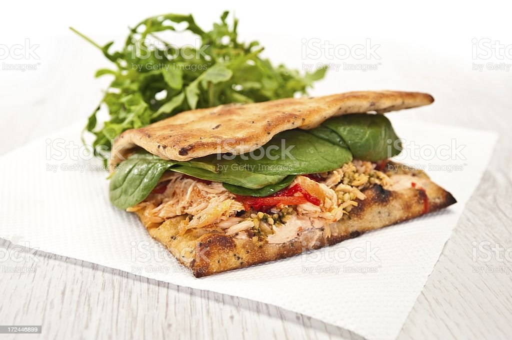 Flatbread Sandwich royalty-free stock photo