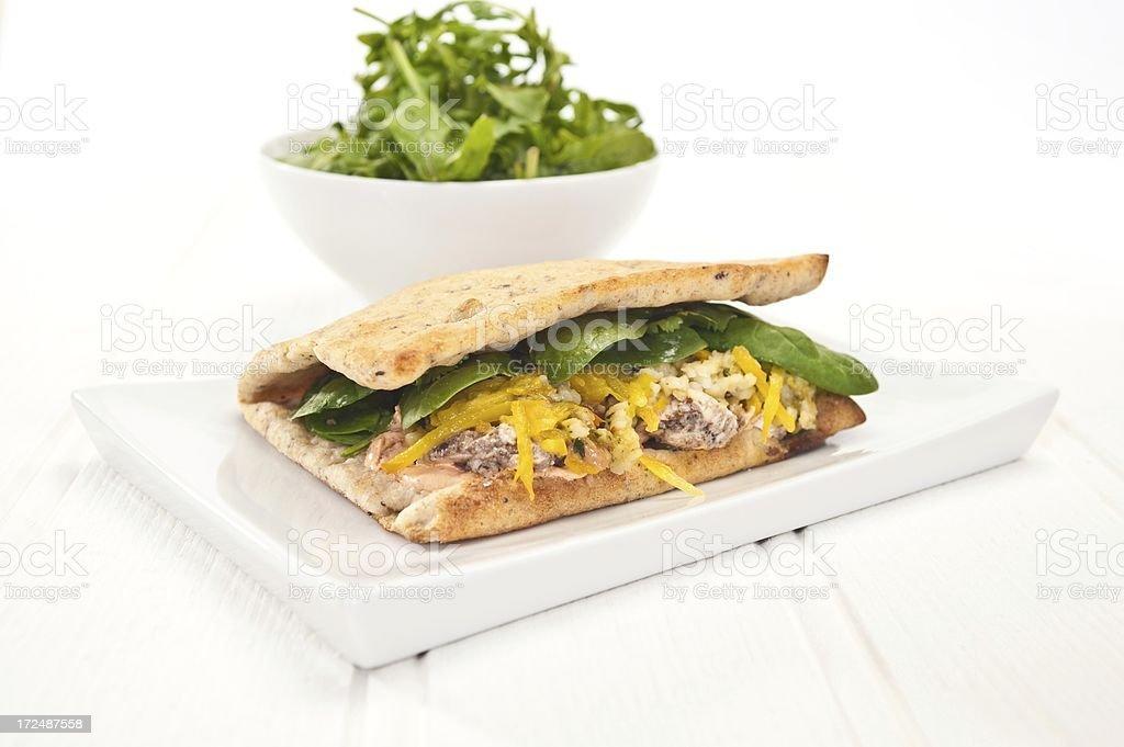Flatbread Sandwich royalty-free stock photo