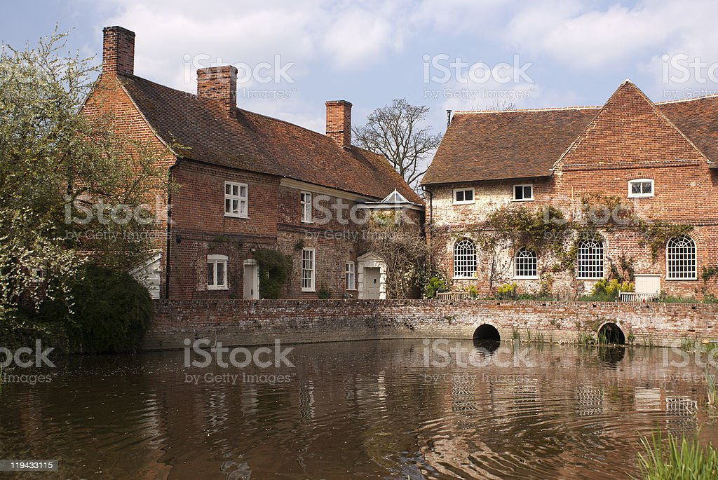 Flatford Mill, Constable country,essex,england royalty-free stock photo