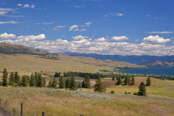flathead lake at elmo montana - native american reservation stock photos and pictures