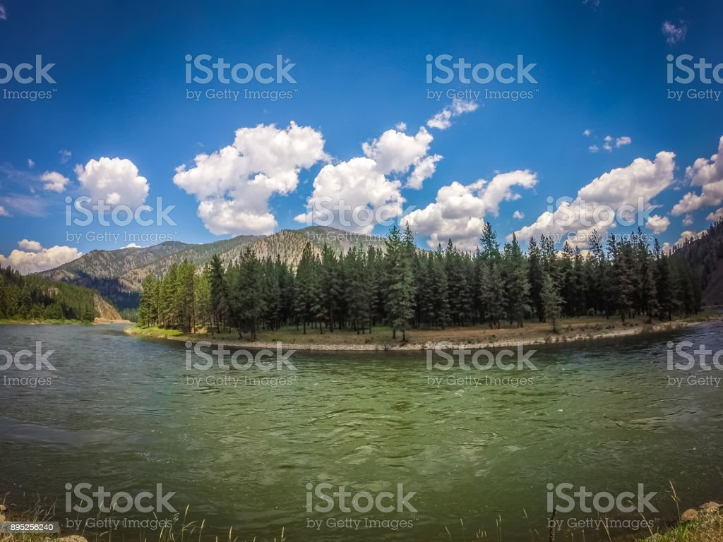 flathead reservation landscapes in montana stock photo